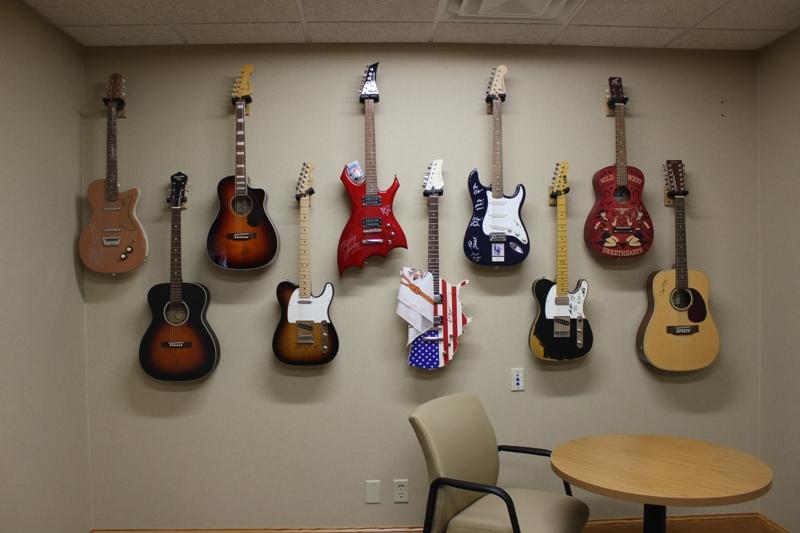 Liberty Bank Office Guitar